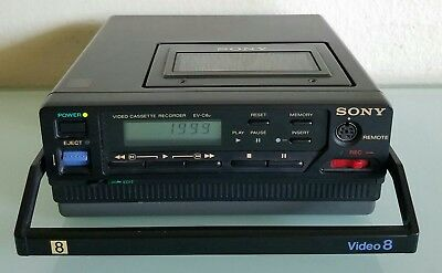Sony EV-C8U Video Cassette Recorder Player Deck Video8 8mm For Parts Or Repair