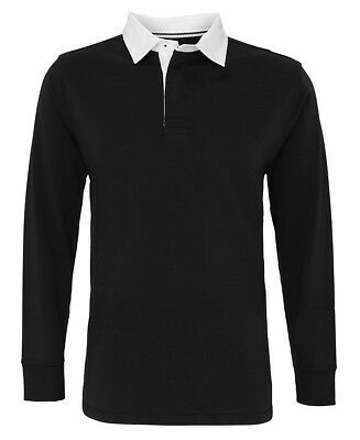 Asquith & Fox Men's Classic Fit Long Sleeve Vintage Rugby Top Cotton Shirt New