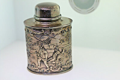 Antique Barbour Sterling Silver Plated Creamer Flask Beautiful Detail HBEP