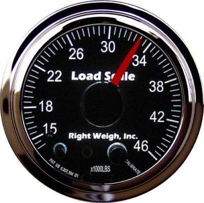 Right Weigh 510-46-C Chrome TANDEM Axle Load Scale for Single HCV Air Suspension