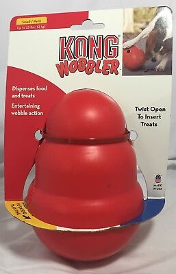 KONG Wobbler Treat Dispensing Dog Toy Red Small ( Up To 25 lbs )