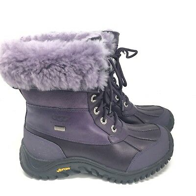 UGG Australia Adirondack Boots II Purple Waterproof Snow 1909 Womens Sz 6 M