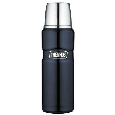 NEW!! Thermos Stainless King 16 Ounce Black Compact Bottle Insulated Travel Mug
