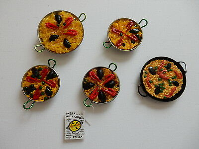 One Selected Souvenir Fridge Magnet from Paella from Spain