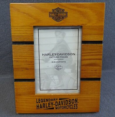 Harley Davidson Motorcycles Picture Frame 35 X 5 Wood Legendary