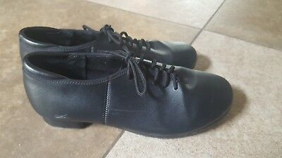 Dance Theatricals Jazz Tap Shoes W/Molded Taps T9500 Black M size 5.0 lace up