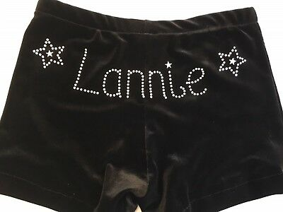 GYMNASTICS LEOTARD SHORTS Personalised & double stars or hearts either side.