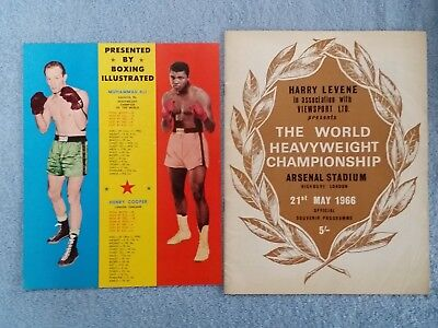 1966 - MUHAMMAD ALI v HENRY COOPER PROGRAMME - HEAVYWEIGHT TITLE