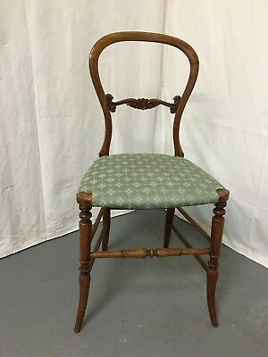 Elegant Victorian balloon back bedroom - hall chair #1864L