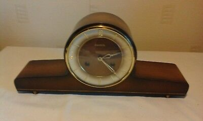 Vintage German Hermle mantle clock in good working condition.