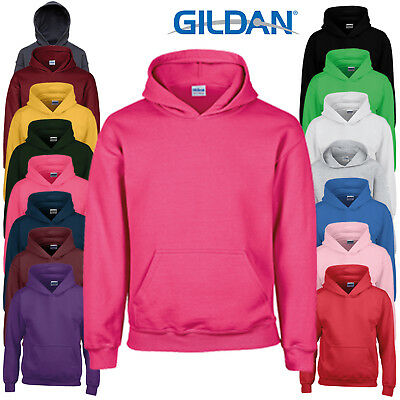 Gildan Children's Heavy Blend Hooded Pullover Sweatshirt Plain Warm Hoodie New