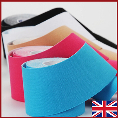 2 Rolls 5cm x 3m Kinesiology Tape KT Muscle Strain Injury Support Physio Sports