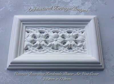 Victorian Decorative Handmade Plaster Air Vent Cover-280mm X 178mm