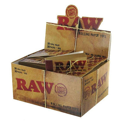 1250 RAW ROLLING PAPER FILTER TIPS 25 Packs VEGAN NATURAL 1 1/4 KING 78mm 100mm
