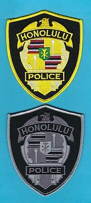 HONOLULU POLICE DEPARTMENT PATCH SET ~ HAWAII ~ VERY NICE COLLECTOR's SET ~ L@@K
