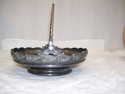 Antique Silver Basket Handle Middletown Plate Co 1891 Quadruple Silverplate