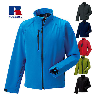 Russell SOFTSHELL JACKET WATER RESISTANT WINDPROOF MICROFLEECE XS-4XL MEN J140M
