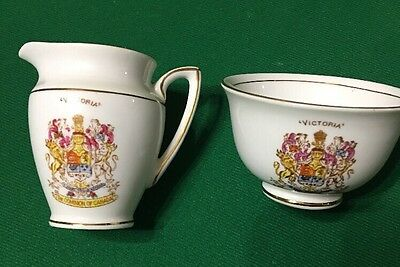 VTG Bone China Taylor & Kent Longton England Creamer And Sugar A0106