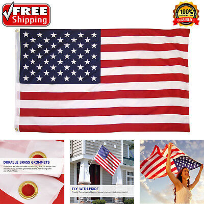 American Flag 3'x 5' ft U.S.A U.S. United States Stripes Stars Brass Grommets