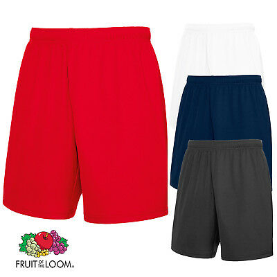 Fruit of the Loom MEN'S PERFORMANCE SHORTS WICKING QUICK DRY WAIST SPORT S-2XL