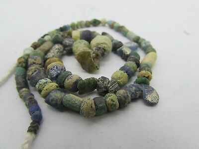 Ancient rare Roman Glass beads string in multi-color from Afghanistan.
