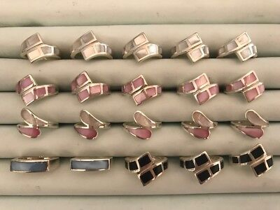 20 Sterling Silver Wholesale Rings Mother of Pearl #1