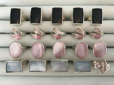 20 Sterling Silver Wholesale Rings Mother of Pearl #2