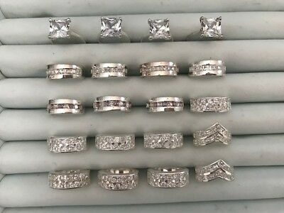 20 Stunning Cubic Zirconia Sterling Silver Wholesale Rings #3