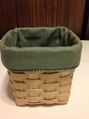 Tall Tissue Basket Liner From Longaberger Sage Fabric
