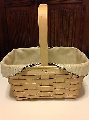 Spring Basket Liner from Longaberger Oatmeal Fabric