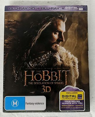 THE HOBBIT: The Desolation of Smaug 3D + 2D Blu-ray 4-DISC Region B oz seller