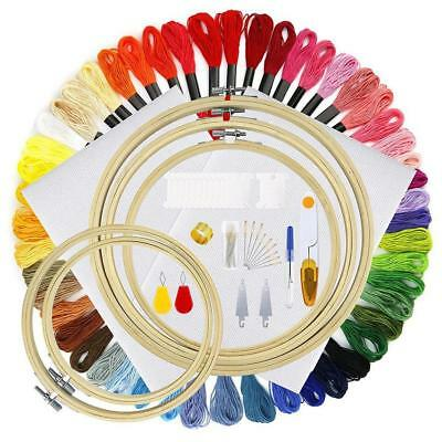 Cross Stitch Embroidery Starter Kit Craft DIY Creative Tools Colorful Fabric-Set