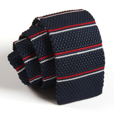 Men Leisure Knit Knitted Slim Flat Tie Skinny Narrow Necktie Colourful Woven