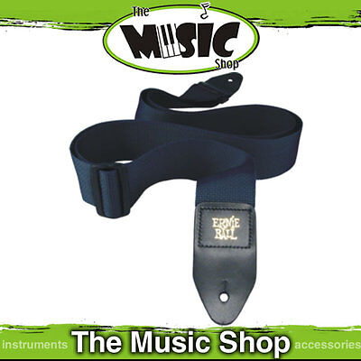 """Ernie Ball Polypro Navy Blue Guitar Strap - 2"""" Wide - Length Adjustable - New"""