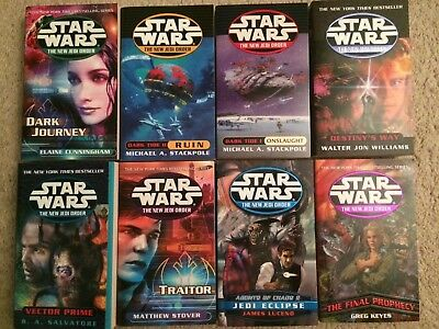 Star Wars New Jedi Order Series 8 paperback book lot NJO unread new!