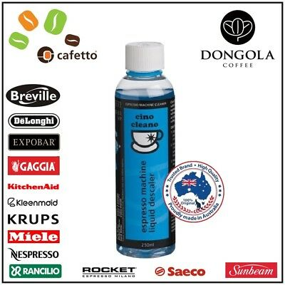 250ML LIQUID DESCALER Espresso Coffee Machine Cleaner by Cafetto CINO CLEANO