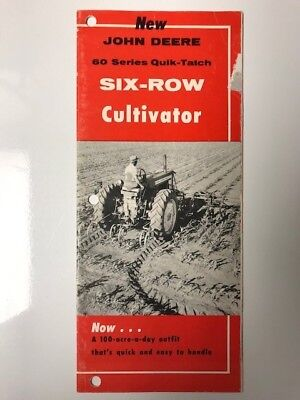 John Deere 60 Series Six-Row Cultivator sales brochure from 1957