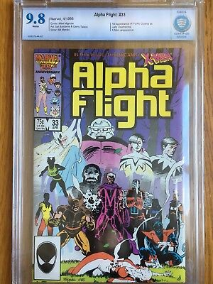 ALPHA FLIGHT #33 CBCS (CGC) 9.8 White Pages - 1st appearance Lady Deathstrike
