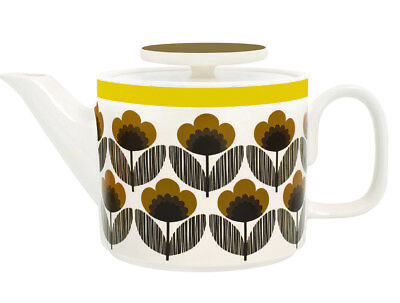 Orla Kiely Tea Pot Poppy Meadow - Brown