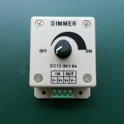 Pro DC 12V 8A LED Switch Dimmer Controller for LED Strip Universal White Switch