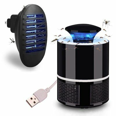 LED Electric USB/Socket Mosquito Zapper Fly Insect Bug Trap Killer Night Light