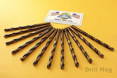 "Drill Hog USA 1/8"" Drill Bits 1/4"" Molybdenum M7 6 Pack Lifetime Warranty"