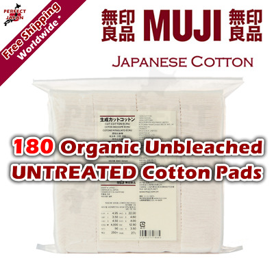F/s Muji 180 Unopened Unbleached Untreated Organic Cotton Pads Japan Vape Wick