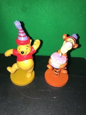 3 Disney Winnie The Pooh And Tigger Birthday Party PVC Figures Cake Toppers