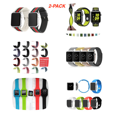 Replacement Sports SILICONE NYLON Bracelet Strap Band for APPLE Watch iWatch