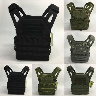 Military Airsoft Tactical Vest Paintball Molle Strike Plate Carrier Swat Comb JS