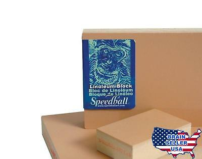 Speedball Linoleum Block 3 x 5 Inches Smoky Tan Free Shipping, New, Free Ship