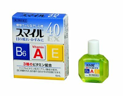 Smile 40EX 15mL eyedrops eye drops LION from Japan