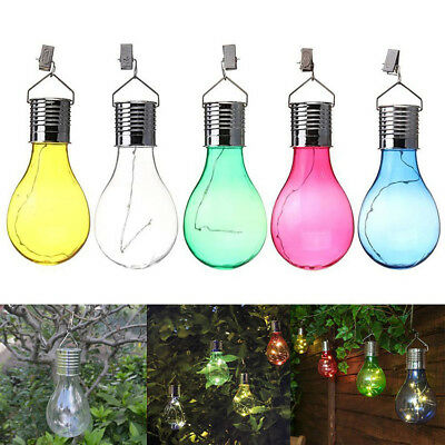 Waterproof Rotatable Outdoor Garden Camping Hanging Solar LED Light Lamp Bulb