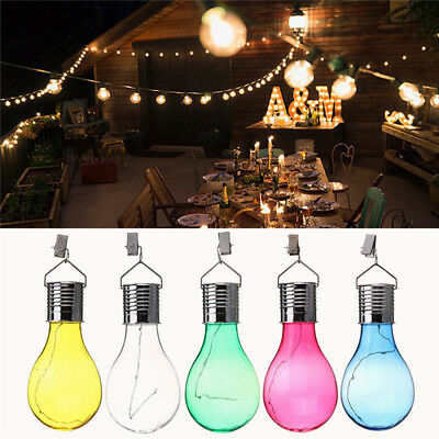 Solar Powered LED Hanging Lamp Light Bulb Lawn Lamp for Outdoor Garden Camping